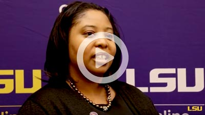 Faith Hooks talks about her LSU Online experience