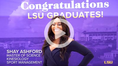 LSU Online graduate posing for photo