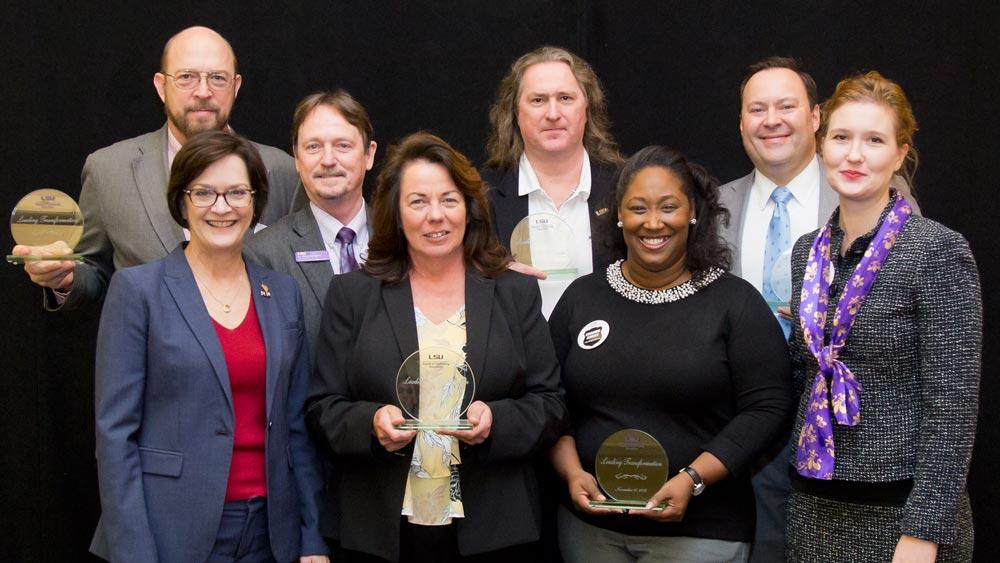 LSU Online award recipients