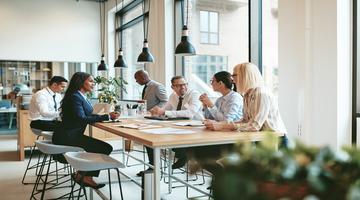 Entrepreneurs at a table