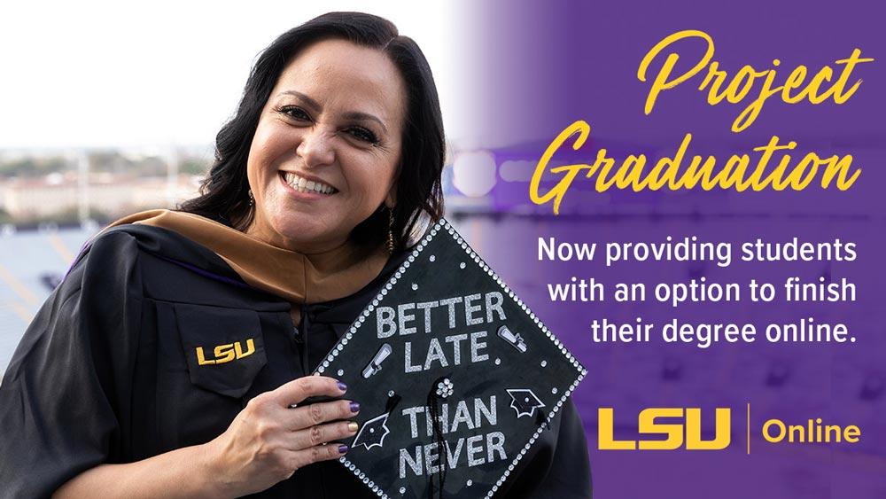 LSU Online graduate