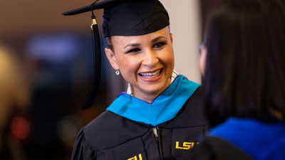LSU Online graduate smiling