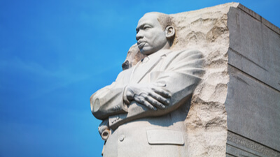 Martin Luther King Statue.