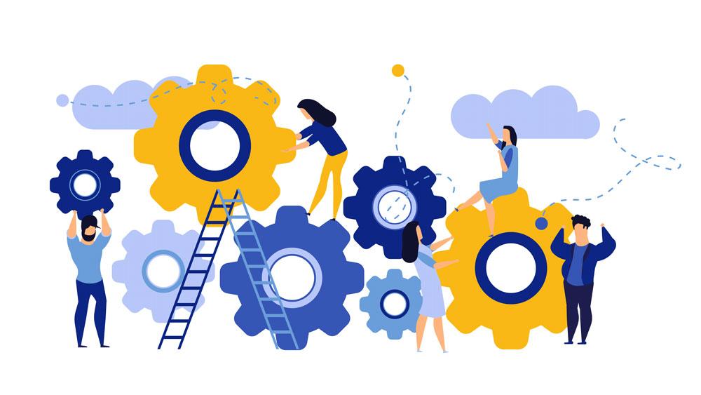 drawing of skilled workforce