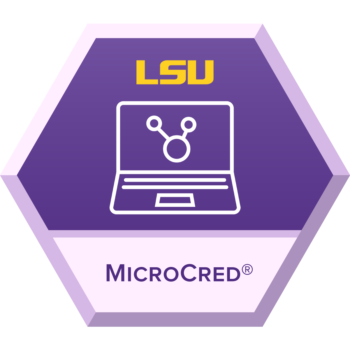 LSU Online Microcred badge