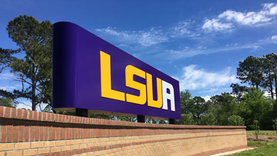 LSUA sign outside campus