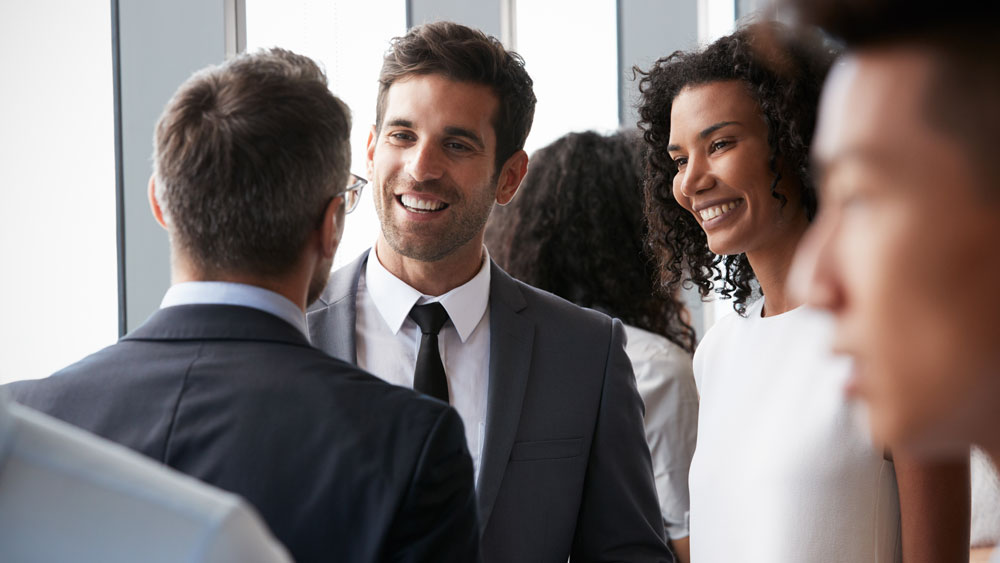 Business professionals networking.