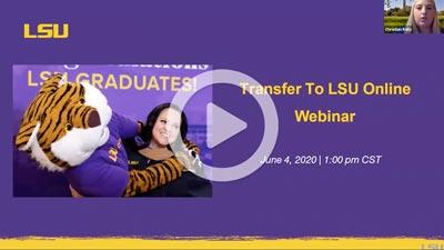 Transfer to LSU webinar