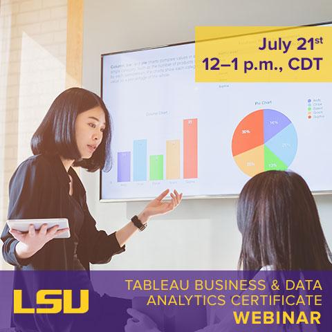 Tableau Business & Data Analytics webinar photo