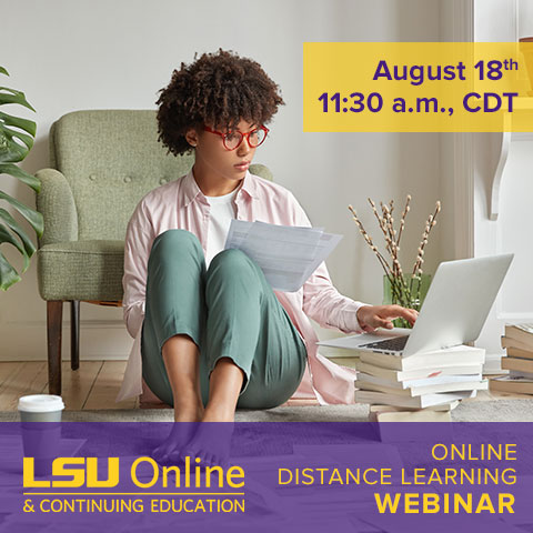 Earn College Credit with Online Distance Learning Webinar image