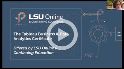 video thumbnail image for Tableau Business & Data Analytics Certificate