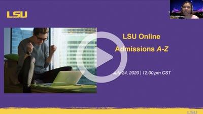 LSU A to Z webinar image