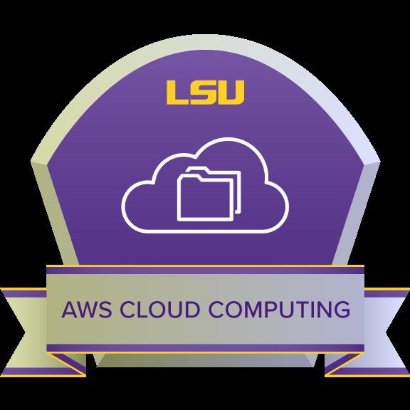 AWS Cloud Computing Certificate badge
