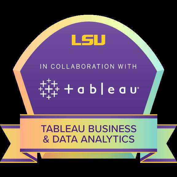Tableau Business & Data Analytics Certificate badge