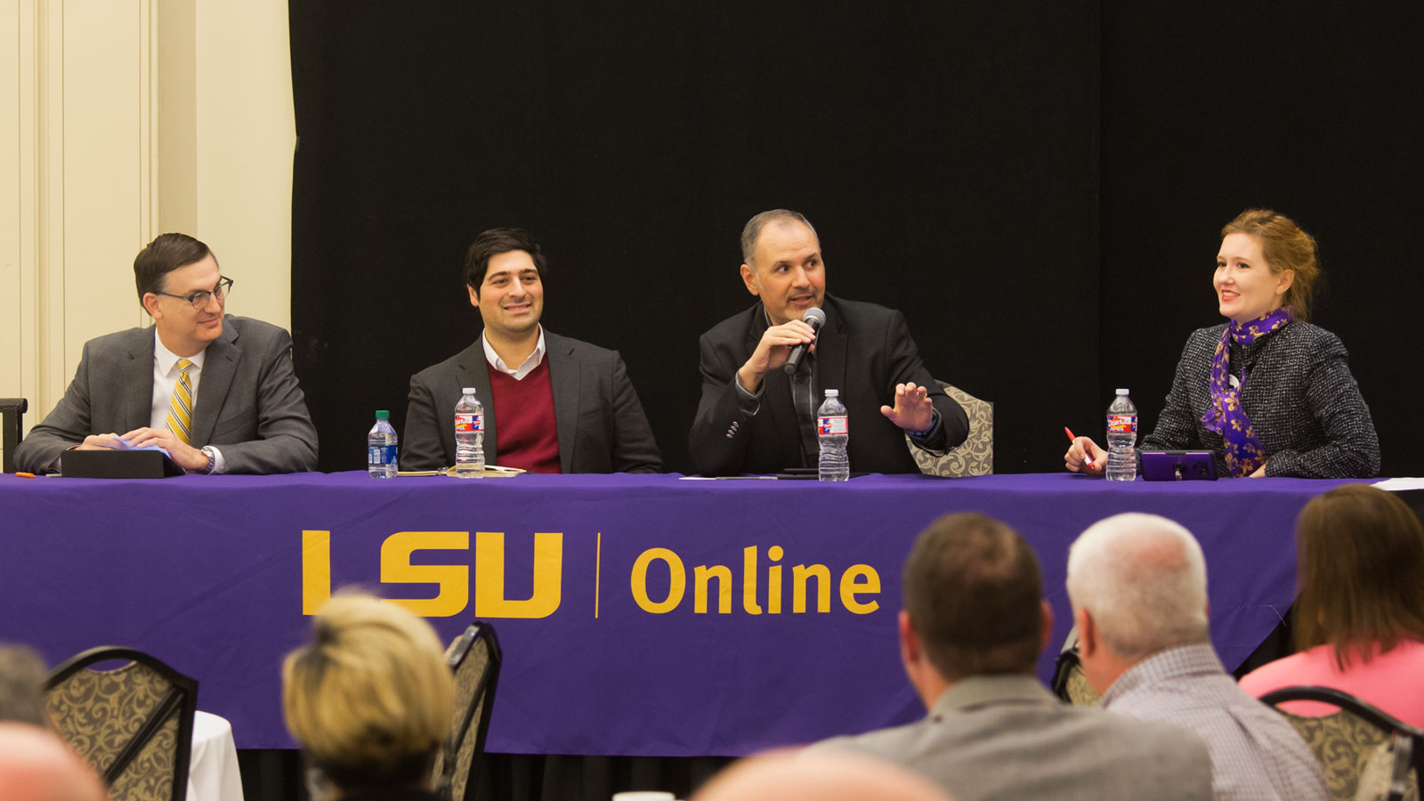 LSU Online panel taking questions