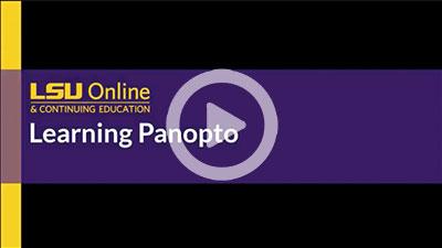 Learning Panopto thumbnail