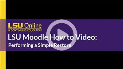 Moodle Simple Restore thumbnail