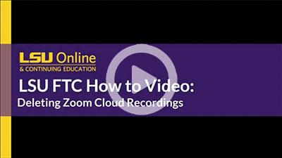 Deleting Zoom Cloud Recordings thumbnail