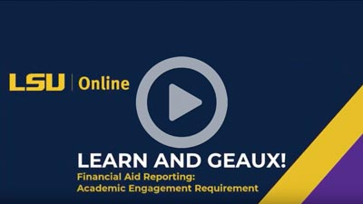 Screenshot Financial Aid Reporting: Academic Engagement Requirement