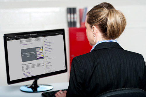 Woman viewing the Online Contingency Plan webpage
