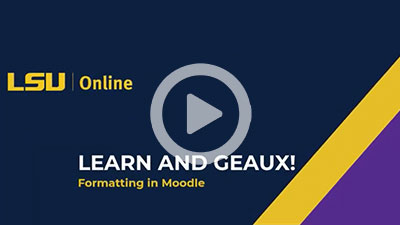 Best Practices for Formatting Text in Moodle