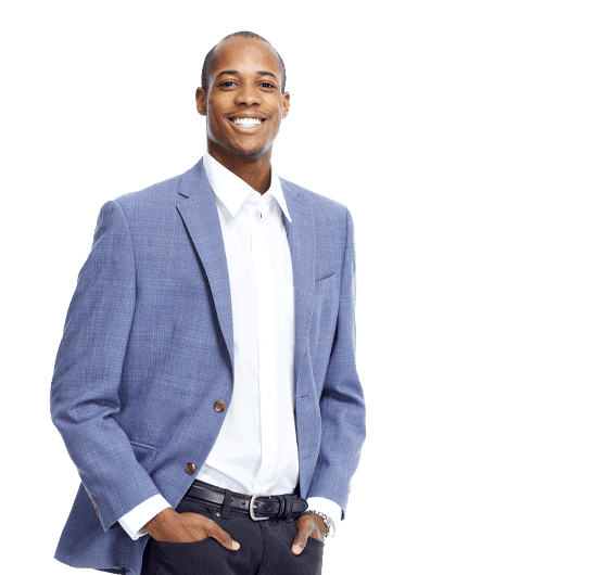 Man in business suit smiling