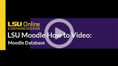 Moodle Database Activity thumbnail