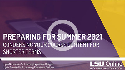 Condensing Your Course Content for Shorter Terms thumbnail