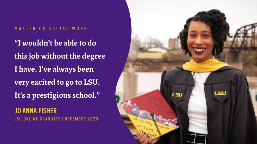 Jo Anna Fisher recent LSU Online graduate