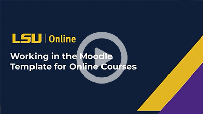 Working in the Moodle Template for Online Courses thumbnail