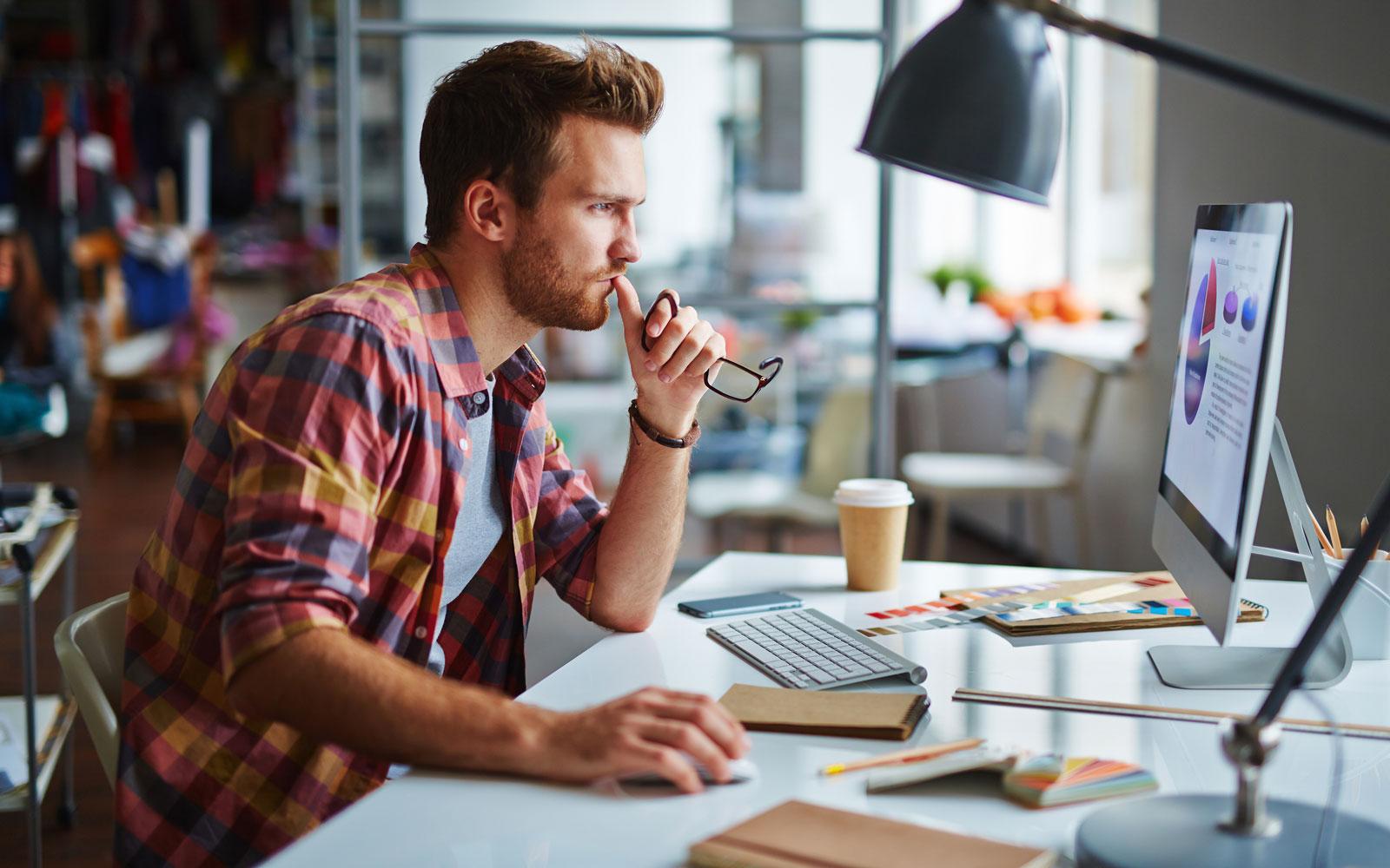 Designer working at his desk