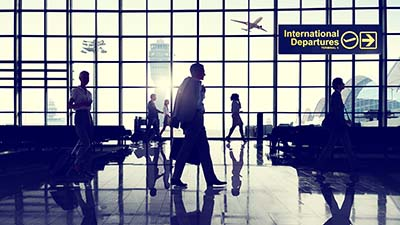 International Business Departures Scene in Airport