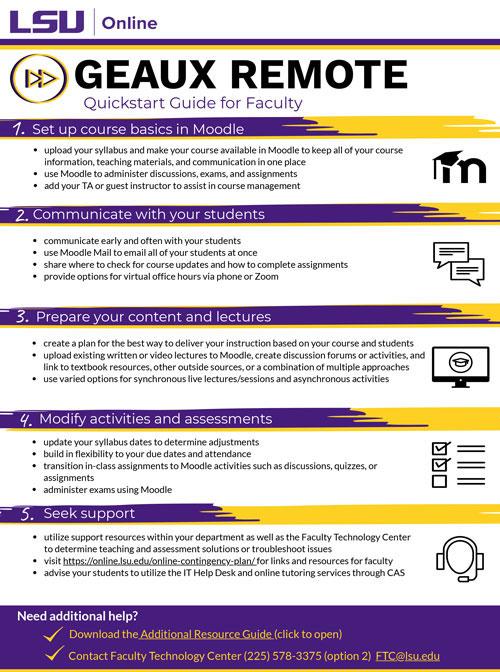 LSU Geaux Online Quickstart Guide