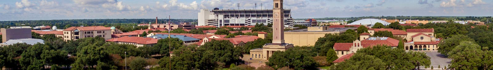 Aerial view of the LSU Campus