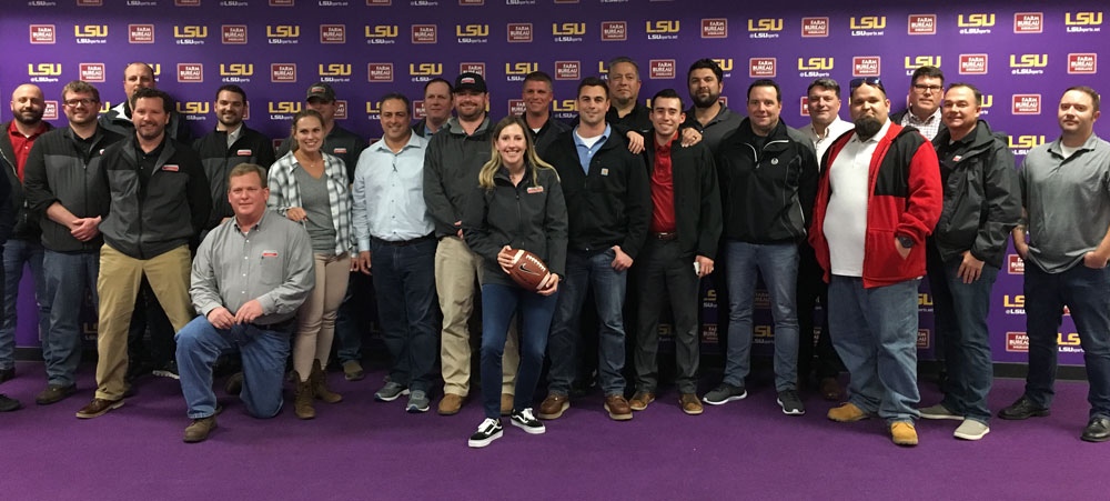 group photo at LSU