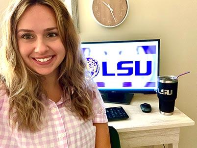 Aliza McAndrew at her desk