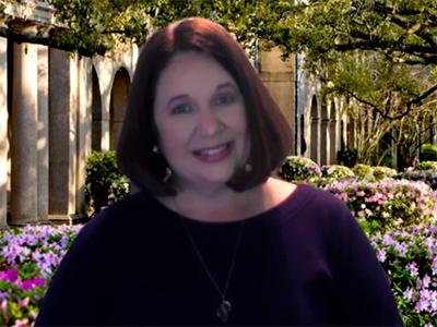 Kristy Anthony at her desk